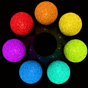 Color Changing LED Crystal Ball Night Light Battery Powered Room Wedding Decor Lamp