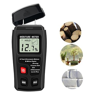 MT10 Digital Wood Moisture Meter Detector 2 Pins Wood Humidity Portable Tester Gradening Tools