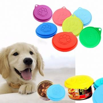 Pet Dog Cat Food Cap Bottle Capsule Container Cover Lid Pet Tin Plastic Reusable Storage Cap Top 88m