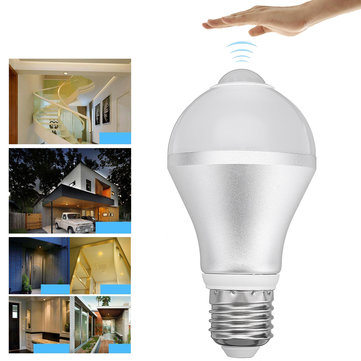 E27 7W 9W 12W Warm White Pure White PIR Motion Sensor Energy Saving LED Light Bulb AC85-265V
