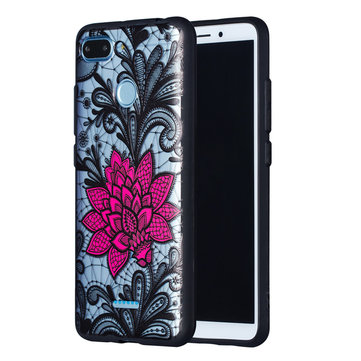 Bakeey™ Lace Flower Shockproof PC + TPU Back Cover Protective Case for Xiaomi Redmi 6 / Redmi 6A