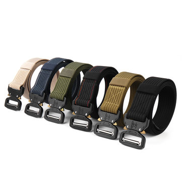 124x3.8cm Multifunction Tactical Belt Sport Waistband Buckle Adjustable Braided Belts