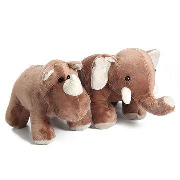 Stuffed AnimalSimulation Elephants Rhinoceros Doll Lovely Plush Toy Bedtime Doll