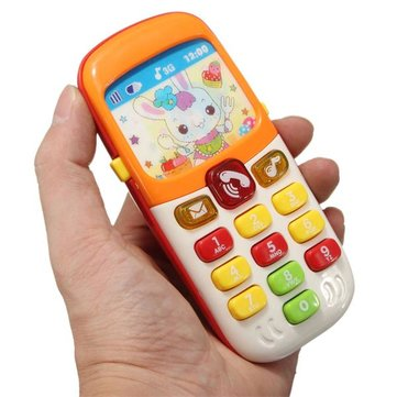 Electronic Toys Kid Mobile Cell Phone Telephone Educational Early Toddlers Learning Musical Sound Puzzle Gifts