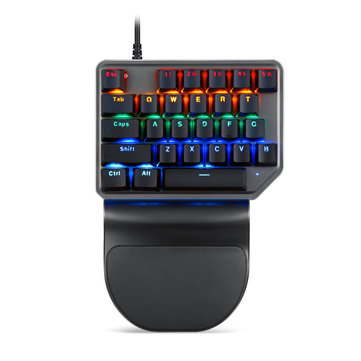 Motospeed K27 One Hand Gaming Backlight Keyboard Blue Switch Singlehanded Mini Mechanical Keyboard