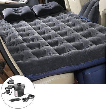 IPRee Flocking Air Mattresses Inflatable Travel SUV Car Back Seat Bed Cushion With Electric Air Pump