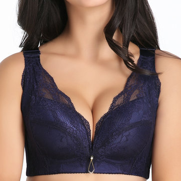 Sexy Lace Full Cup Wireless Back Shaping Bra