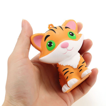 Squishy Tiger 8cm Slow Rising Soft Collection Décor de cadeau Cute Squeeze Toy