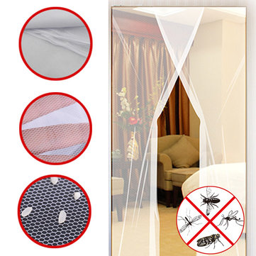 24x83 Inch 2pcs DIY Anti Mosquito Pest Window Curtain Net Mesh Door Sheer Curtain Protector