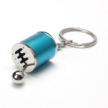 5 Colors Auto Car Tuning Part Chrome Finish Gear Box Shifter Key Chain Fob Ring Turbine Nos Keychain