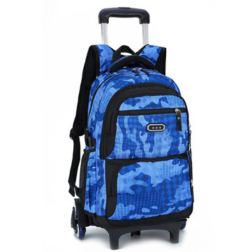 29L Detachable Wheels Trolley Luggage Backpack Travel Rucksack Teenager Student School Bag Pack