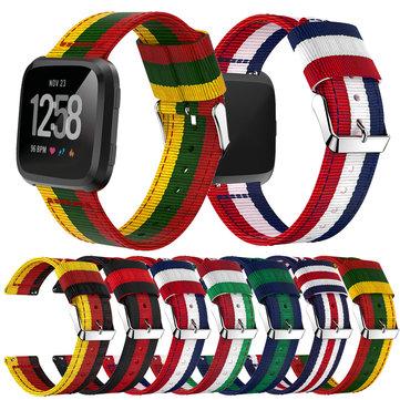 Bakeey Замена Colorful Тканые Nylon Ткань спортивный ремешок для Fitbit Versa