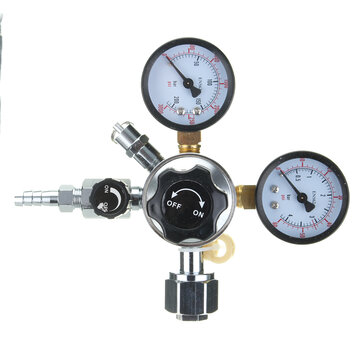 5/16 Inch HFS CO2 Regulator Dual Gauge Valve for Beer Brewing Kegerator