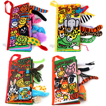 Vvcare BC-LT01 Animal Tail Cloth Book Infant Learning Toy Education Development Books