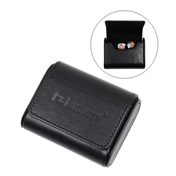 HZSOUND PU Leather Magnetic Flip Cover Portable Digital Accessories Earphone Storage Bag Case