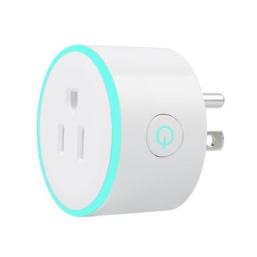 AC100-240V 10A Mini WiFi Smart LED Light Socket Switch Timing US Plug Works with Alexa Voice Control
