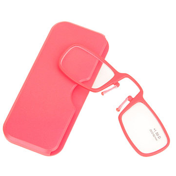 Red TR90 Light Weight Mini Wallet Pocket Nose Resting Clip Reading Glasses 1.0 1.5 2.0 2.5 3.0 3.5
