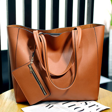 Ladies Trend Handbag Messenger Bag Simple Bucket Bag Shoulder Bag