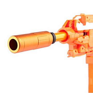 WORKER AAC CQB Metal Suppressor Front Tube For Nerf N-strike Elite Retaliator Toys Accessory