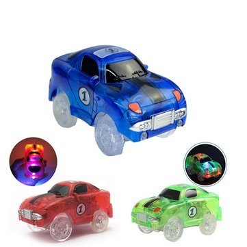 Electronics Five Flashing Lights Playing in the Glow Track Flexible Racing Cars For Kids Gift Toys