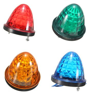 24V 14 LED Side Marker Light Lamp Indicator Truck Lorry Van Caravan Trailer Bus
