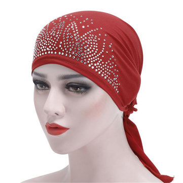 Under Hat Bonnet Ninja Inner Women Muslim Islamic Wrap Neck Fullständigt lock Turbanlock