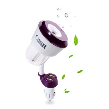 RUNDONG Car Dual USB Charger Humidify Air Purifier Aromatherapy Oil Diffuser Negative Ion Cleaner