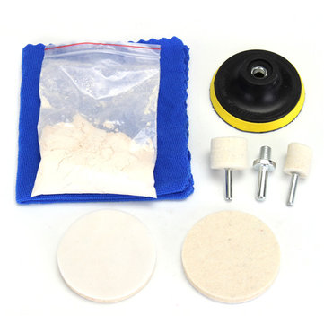8pcs Glass Plolishing Tool 70g Cerium Oxide Polishing Powder and Polishing Wheel