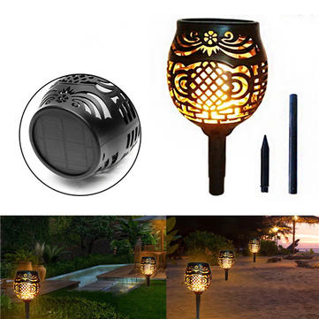 96 LED 45LM Solar Powered Torch Light Outdoor Flickering Flame Lamp for Path Garden Landscape