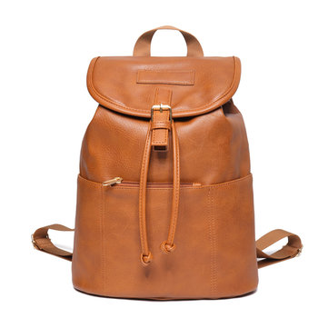 Trend Solid Pure Color Large-capacity Ladies Backpack Shoulder Bag