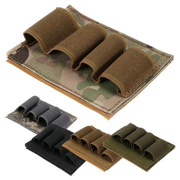 4 Rounds Shotgun Bullet Dump Pouch Holder Reload Strip Ammo Carrier Tactical Hunting Gun Accessories
