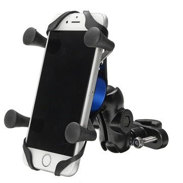 4-6 inch X-type Phone GPS Aluminum Alloy Holder Handlebar Rear View Mirror E-Scooters Motorcycle Bike