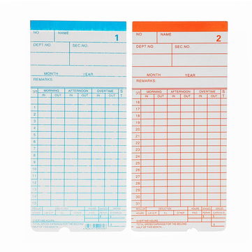 90Pcs Monthly Time Clock Cards Payroll For Employee Attendance Bundy Recorder Timer