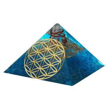 Original Cristales Apatita Orgone Piedras preciosas Pirámide Meditación Yoga Generador de energía Curación