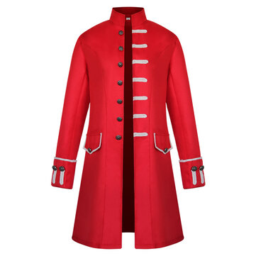 Men Mid-long Royal Style Vintage Jacket Medieval Trench Coat