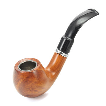 KCASA KC-WTP001 Classic Resin Wood Tobacco Pipe Durable Smoking Pipe Cigar Flitter
