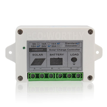 15A 12V/24V Solar Charge Controller for High Power 100W Solar Panel Kits