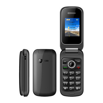 UNIWA X18 1.77 Inch 800mAh 0.08MP Rear Camera FM Bluetooth Dual SIM Dual Standby Flip Feature Phone
