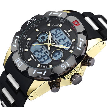 STRYVE S8010 Chrono Steel Dual Display Digital Watch