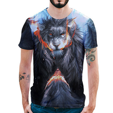 Summer Fashion Wrath Lion 3D Printed T-Shirts