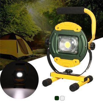 30W Portable USB Rechargeable COB LED Flood Light Outdoor Emergency Camping Lamp for Hiking 220V