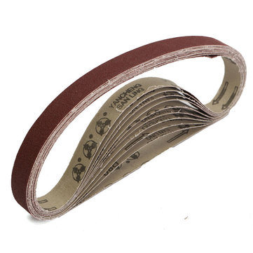 10pcs 80 Grit 760x25mm Zirconia Abrasive Sanding Belts for Grinding Woodwork