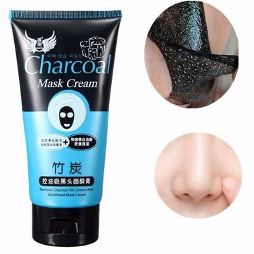 Bamboo Charcoal Blackhead Remover Mask Peel Off Acne Oil Control Purifying Face Care Deep Cleansing