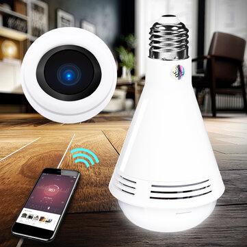 360° HD 960P 1080P WiFi IP Camera LED Light Bulb Bluetooth Speaker Security Monitoring