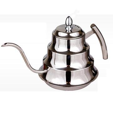 Caffè in acciaio a goccia caldaia teiera caffettiera in acciaio caffettiere 1200ml