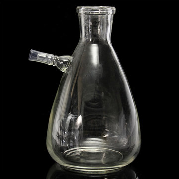 500ml 24/29 Lab Glass Filtering Flask Bottle 10mm Hose Vacuum Adapter