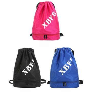S-5294 Double Layer Waterproof Backpack Drawstring Hiking Bag Beach Waterproof Storage bag
