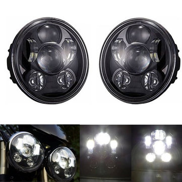 5-3/4 5.75inch 45W DC12-30V 4000LM Motorcycle Headlight LED Lamp High Beam Low Beam Light For Harley