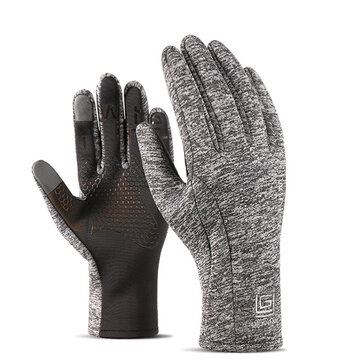 Mens Women Sports Velvet Waterproof Gloves Outdoor Riding Touch Screen Ski Climbing Gloves