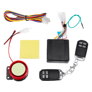 12V 120m Universal Scooter Motorcycle Alarm System Anti-theft Security Remote Control